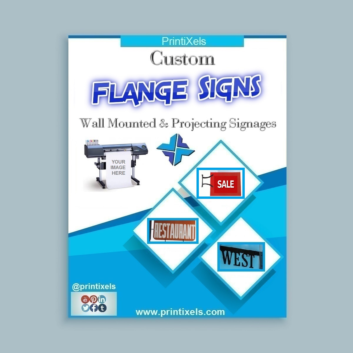 Flange Signs, Wall Mounted & Projecting Signages