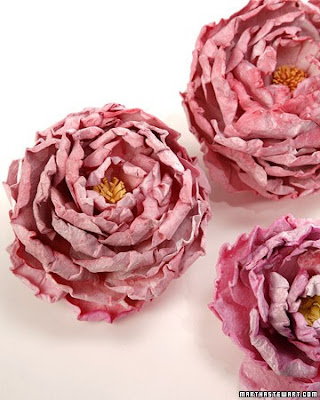 Paper peonies from Martha Stewart - Flower Tutorials Directory - Click through to view 30 Fabulous Flower Tutorials!