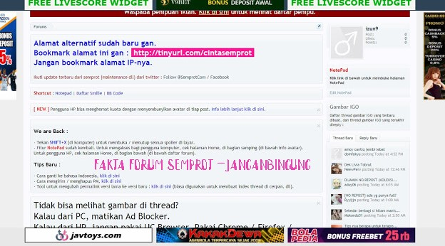 Fakta ' Forum Semprot ' Gudang Psk Online dan Video Porno Terbesar di Indonesia
