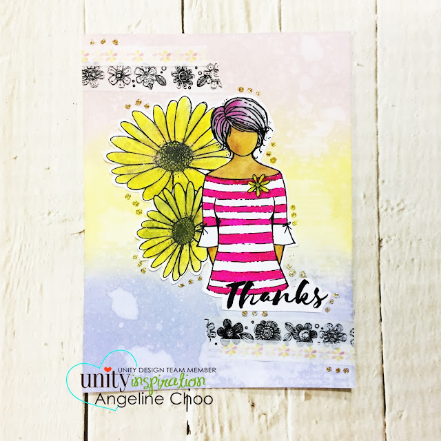 ScrappyScrappy: [NEW VIDEOS] March Unity Stamp Blog Hop - Daisy Girl #scrappyscrappy #unitystampco #card #cardmaking #youtube #quicktipvideo #distressoxide #timholtz  #timholtzstencil #stencil #washitape #spectrumnoir