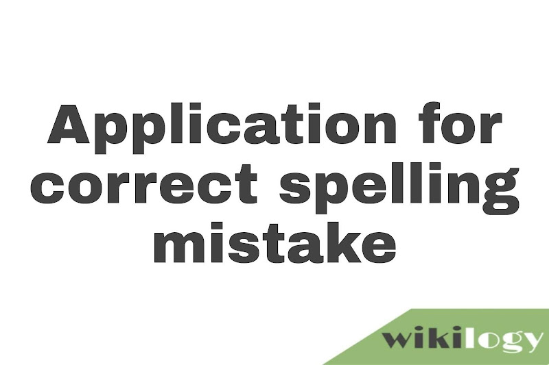 Application for correct spelling mistake