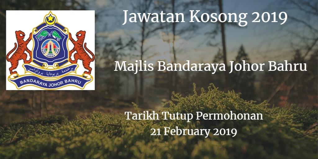 Jawatan Kosong MBJB 21 February 2019