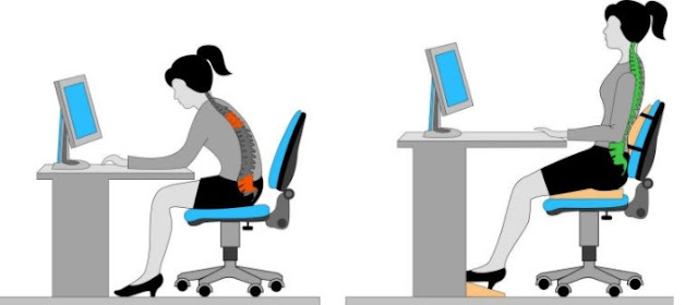 Ngồi làm việc sai tư thế gây ra nhiều hậu quả khôn lường