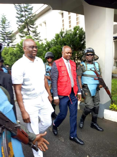 Fayose All Smiles After He Was Granted Bail Today (Photos)