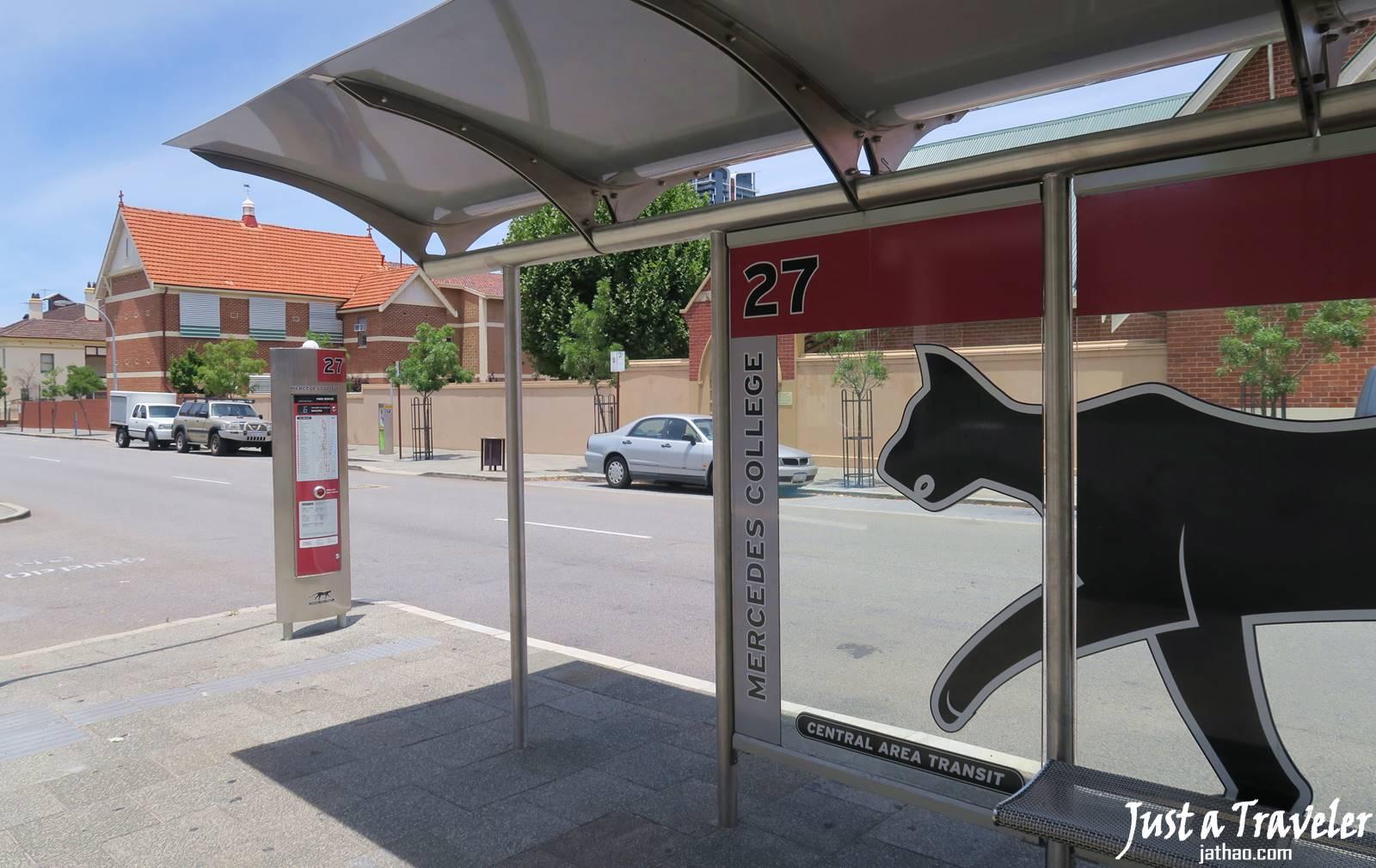澳洲-伯斯-交通-貓公車-巴士-市區-票價-路線-時刻表-站牌-攻略-推薦-便宜-免費-自由行-旅遊-Perth-Transport-Free-CAT-Bus