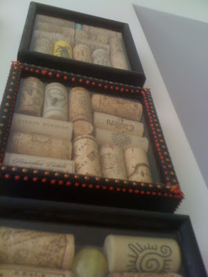 art, crafts, DIY, shadowbox, wine cork crafts