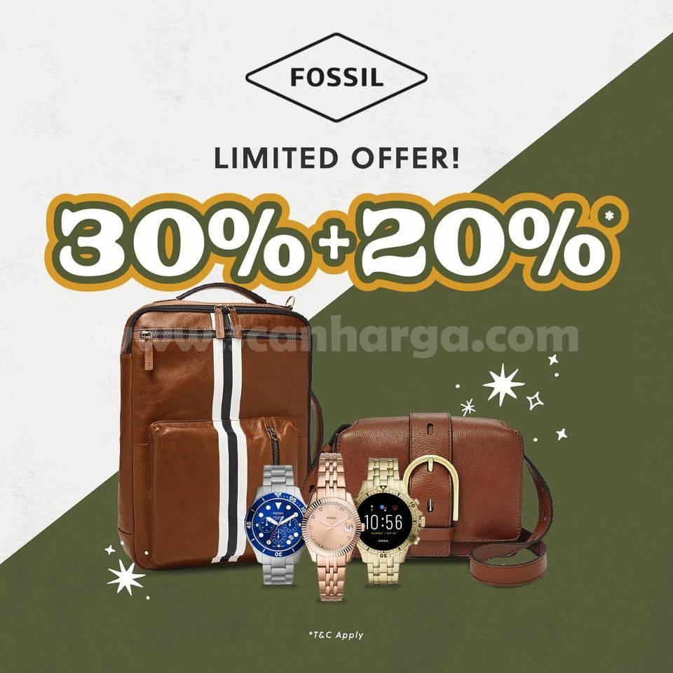 Fossil Promo Limited Offer Discount up to 30% + 20% Off