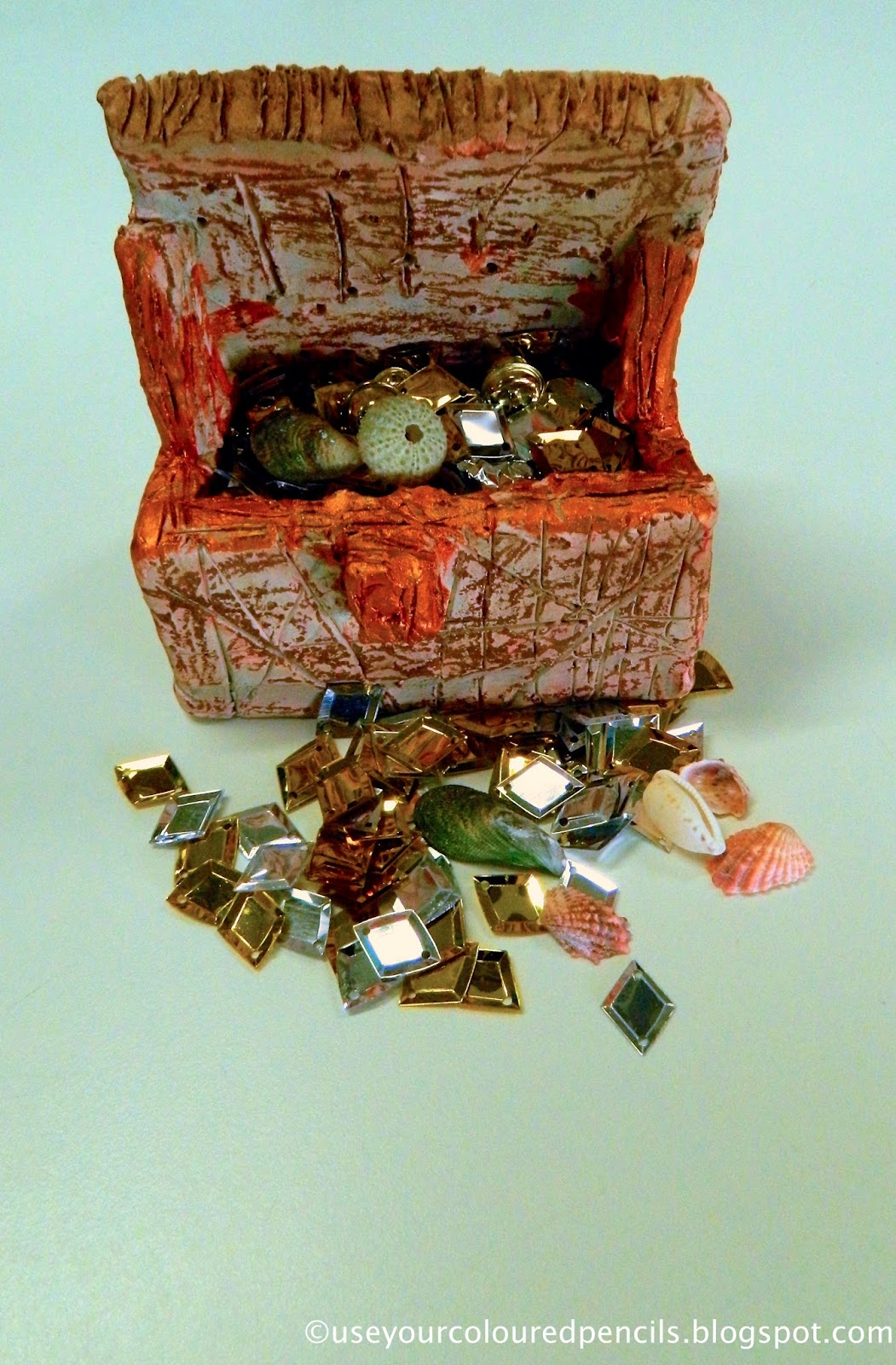 Use Your Coloured Pencils More Clay Treasure Chests