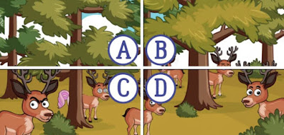 Figure: Quick! Find the unicorn before these creepy deer find her!