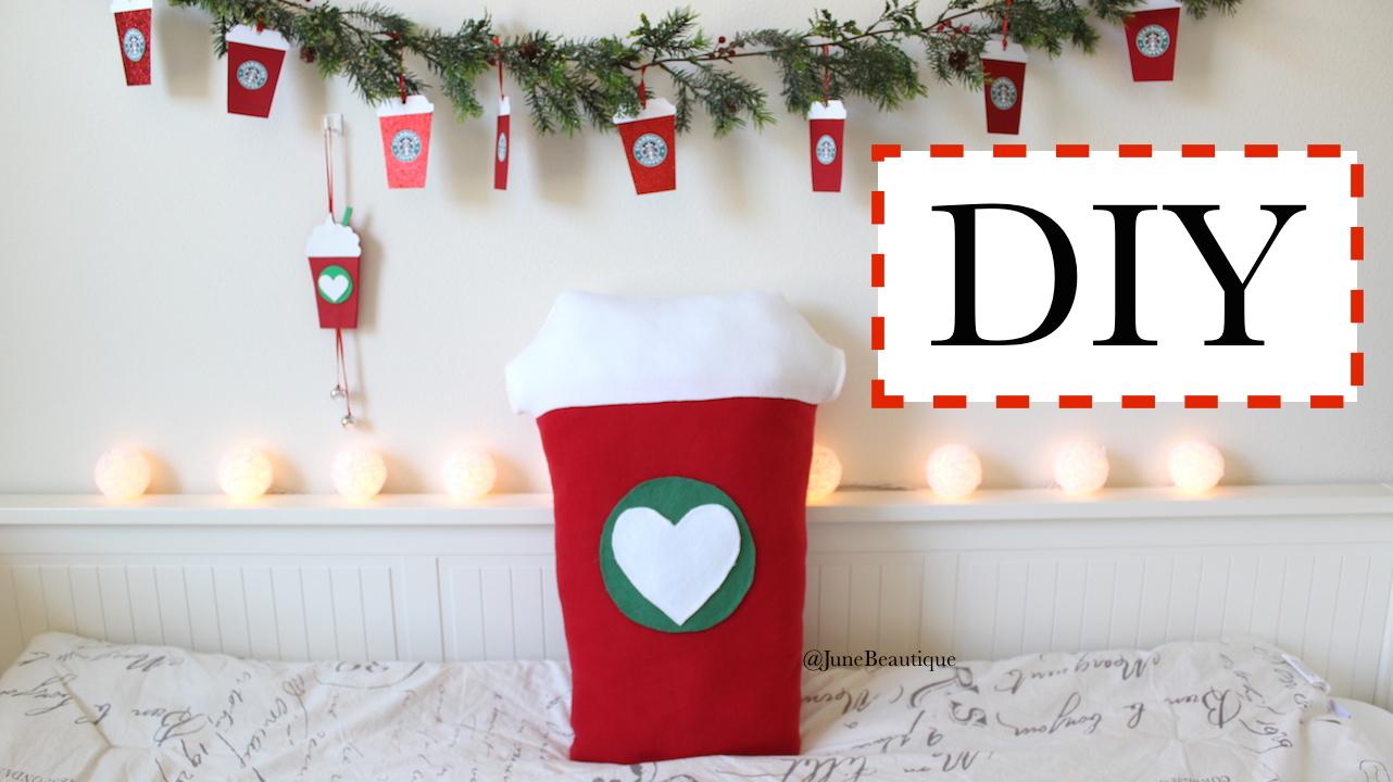 Diy Christmas Decorations Starbucks Pillow Garland Door