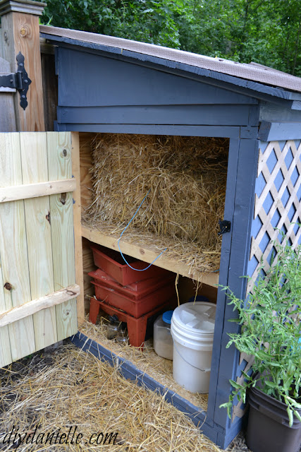 Build an easy to clean duck coop with attached storage for Winter duck house