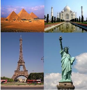 प्रमुख देशों के प्रसिद्ध स्मारक -Famous Monument of the world