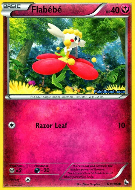 Flabebe #63/106 -- Flashfire Pokemon Card Review ...