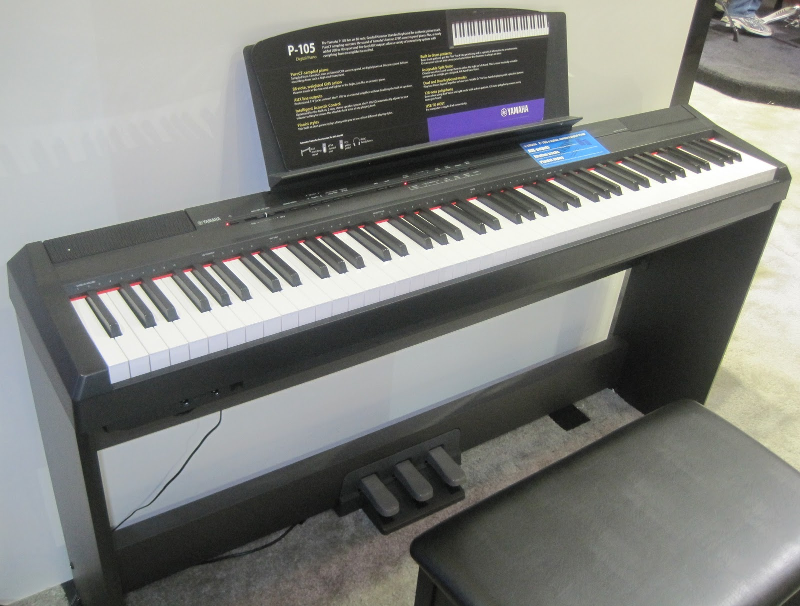 Az piano reviews review yamaha ydp141 now discontinued for Yamaha piano keyboard models