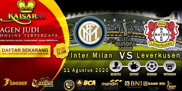 Prediksi Bola Terpercaya Liga Europa Inter Milan vs Bayer Leverkusen 11 Agustus 2020