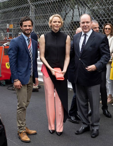 Princess Charlene, Prince Carl Philip, Beatrice Borromeo, Pierre Casiraghi, Andrea Casiraghi, Tatiana Casiraghi in Saloni