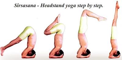 Sirsasana - Headstand yoga step by step