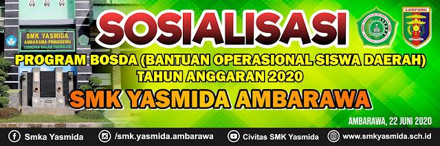Desain Banner Sosialisasi Program Bosda SMK Yasmida Ambarawa