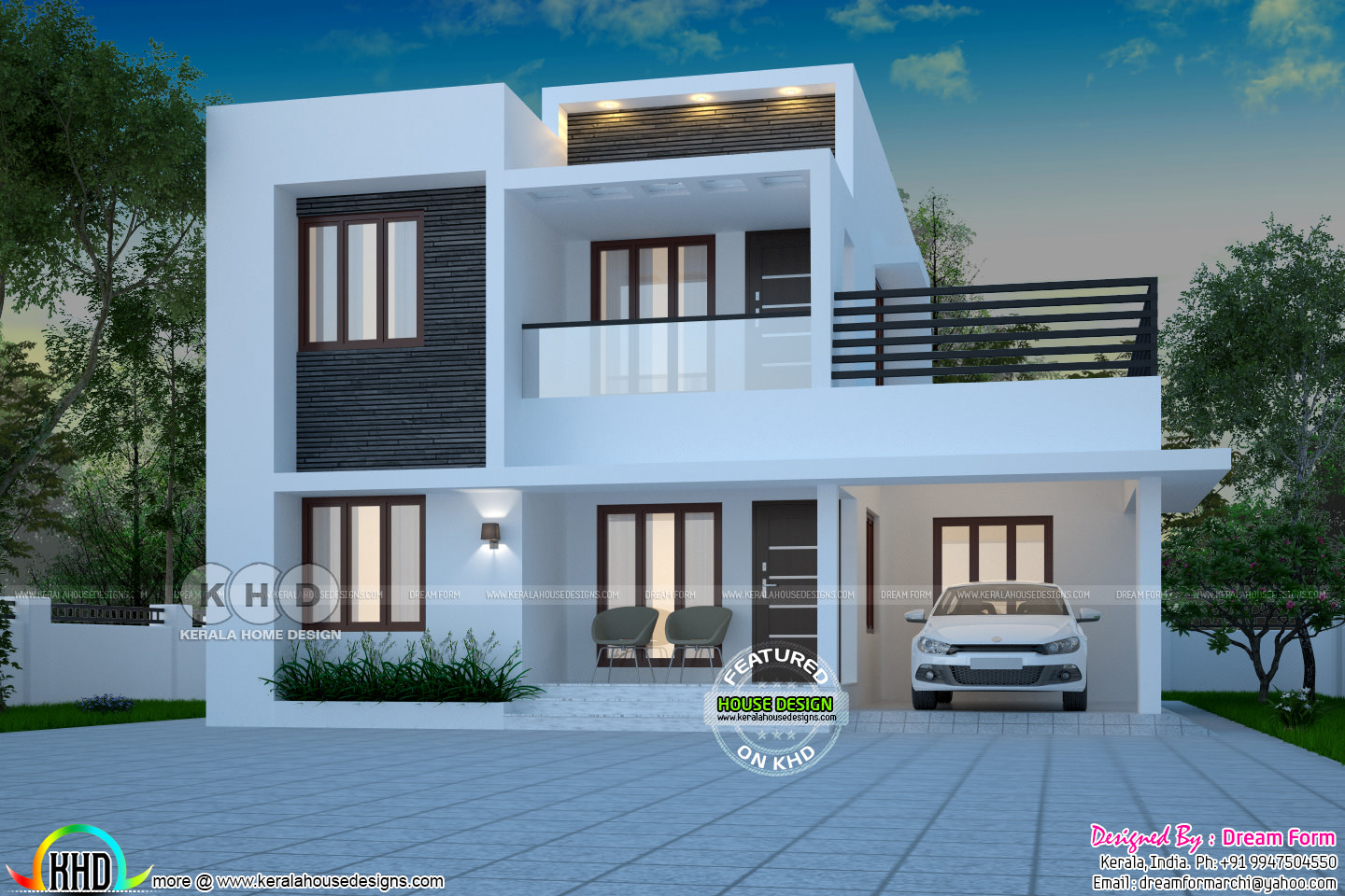 1871 square feet 4 bedroom modern house | Kerala home ...