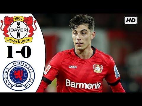 Video Bayer Leverkusen 1-0 Glascow Rangers: Vòng 1/8 Europa League