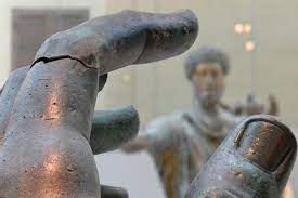 Hand of Constantine colossus reunited with missing finger
