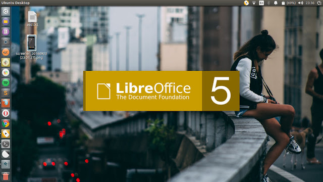 LibreOffice Splash Screen Yellow Based Color