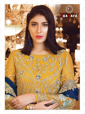 Shanaya Fashion  Rose Blossom Georgette Pakistani Suits Collection In Wholesale Rate