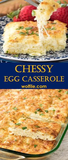 Cheesy Egg Casserole Recipe