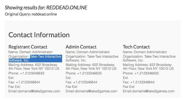 Se registra el dominio Red Dead Online, ¿más pistas?