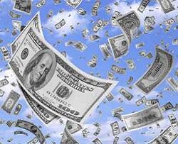 dollars rain
