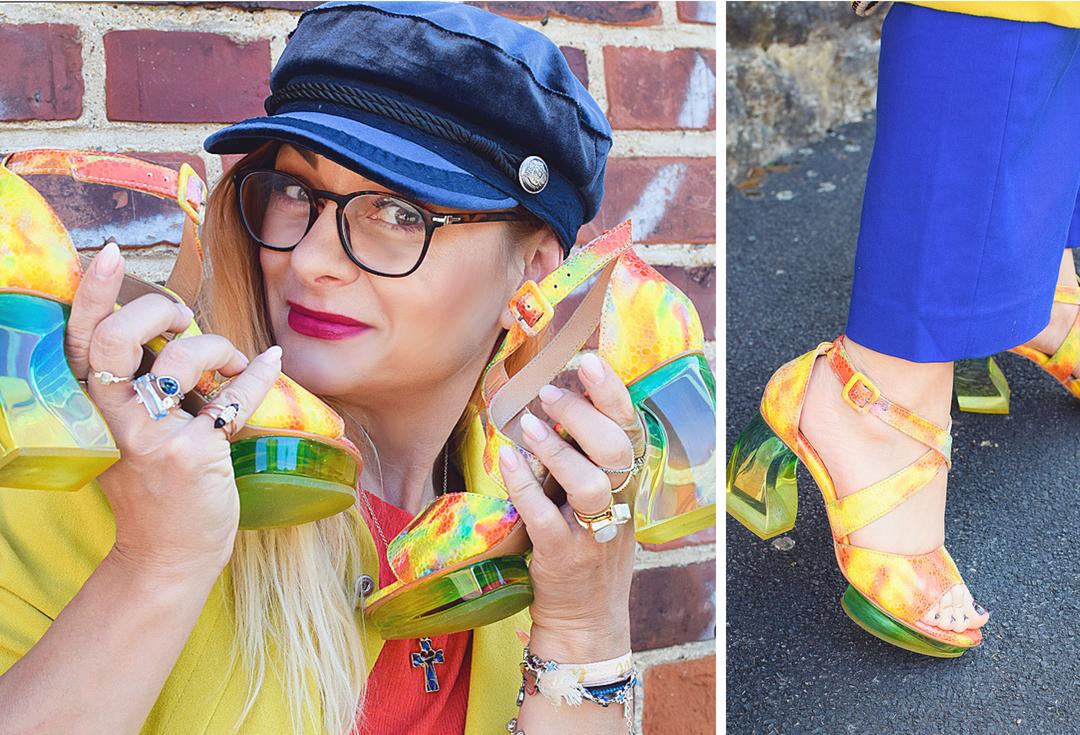 Sandalen mit Plexiglas Absatz, stylische Schuhe mit durchsichtigem Absatz