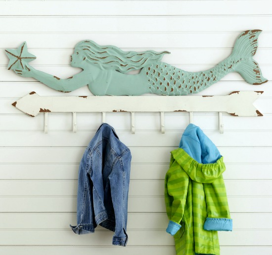Mermaid Wall Coat Rack