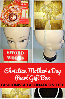 Christian Mother's Day Pearl Gift Box from Fashionista Fascinata on Etsy