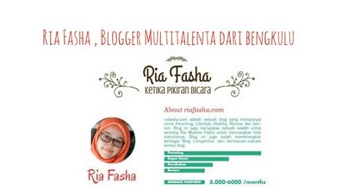 Ria Fasha, Blogger Multitalenta Dari Bengkulu