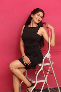 Actress Madhumitha Latest Picture Gallery in Black Short Dress  0018.jpg