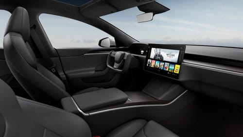 Tesla unveils the redesigned Model S car