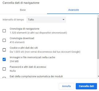 cache Chrome
