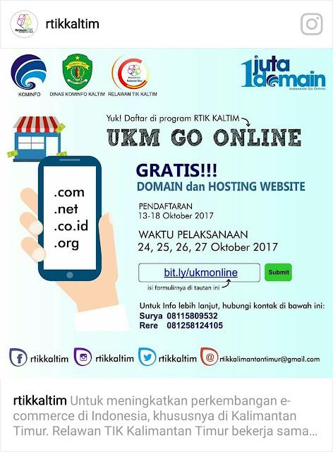 RTIK Kalimantan Timur mengadakan UKM GO ONLINE