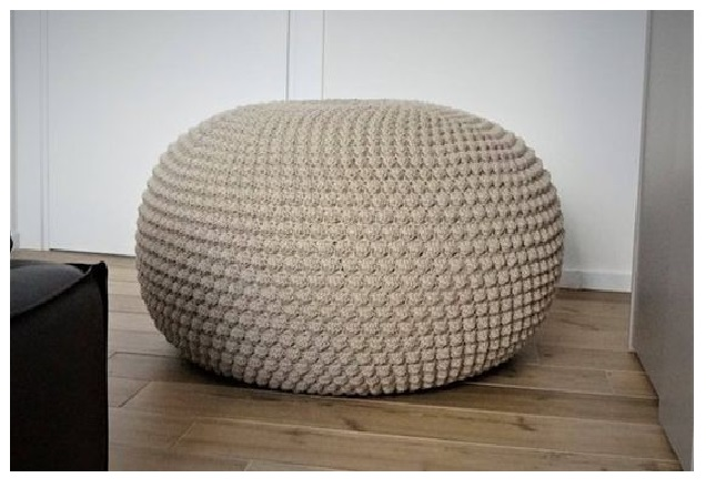 floor pouf Straw pouf Pouf ottoman coffe table bean bag lounge sofa with brown style new design