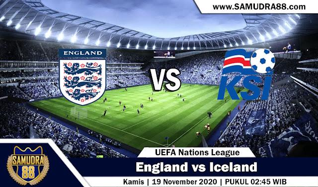 Prediksi Bola Terpercaya England vs Iceland 19 November 2020