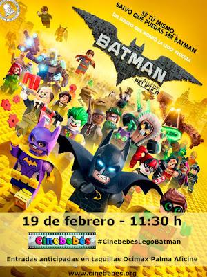 Batman, la Lego película cartel en Cinebebés