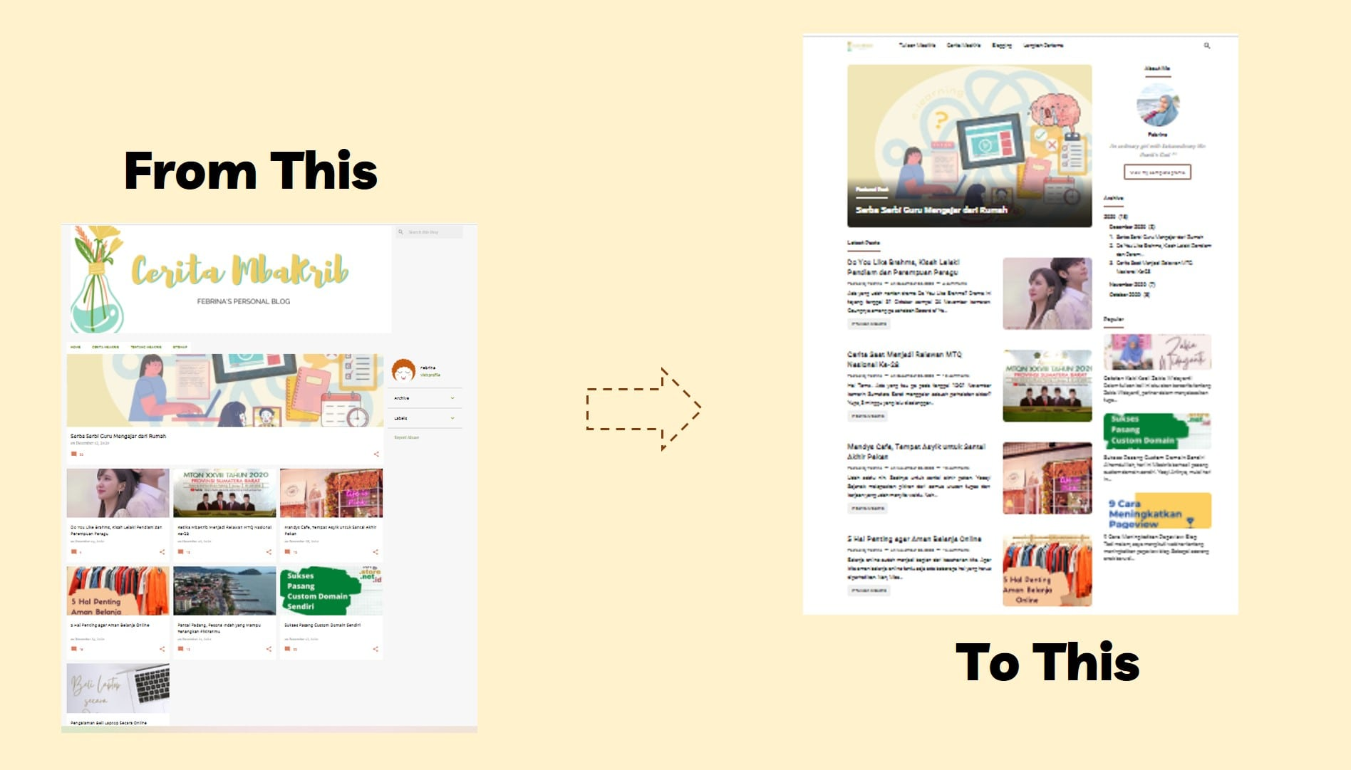 ganti template blog