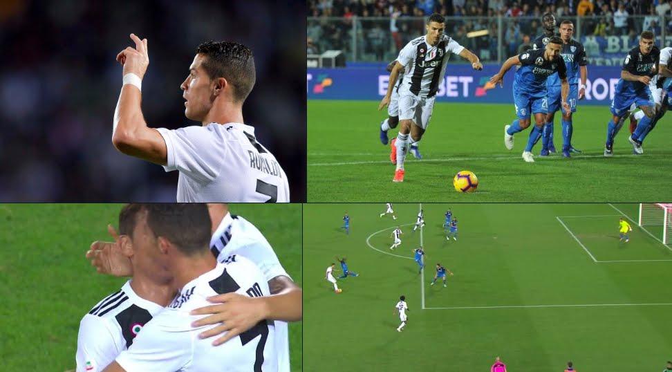 Empoli-Juventus, rimonta capolavoro firmata CR7 Cristiano Ronaldo: doppietta e 7 gol in Serie A.