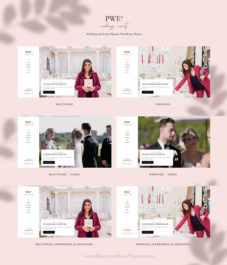 PWE - Wedding and Event Planner WordPress Theme