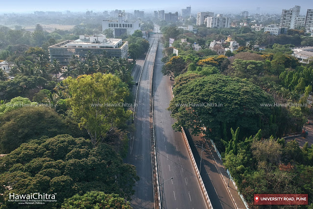 Pune University flyover bridge demolished - aerial photos
