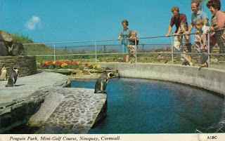 Penguin Park, Mini-Golf Course, Newquay, Cornwall. A1BC. Harvey Barton Viewcard 27 July 1970