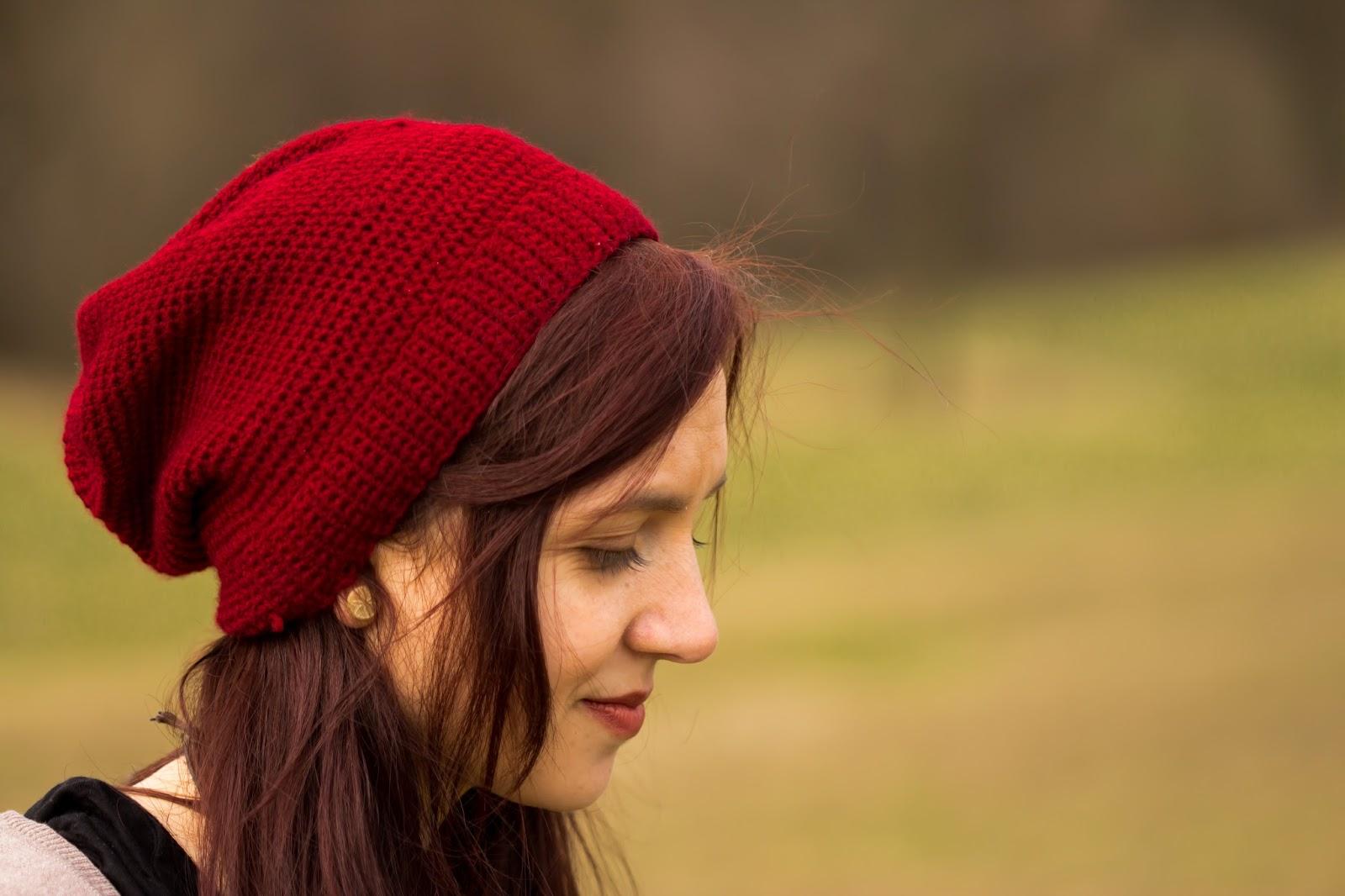 Anleitung für eine einfache, gehäkelte Mütze mit festen Maschen - Crochet Slouchy Beanie