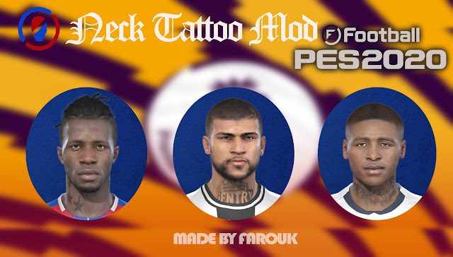 Neck Tattoo Mod For PES 2019/2020 by Farouk
