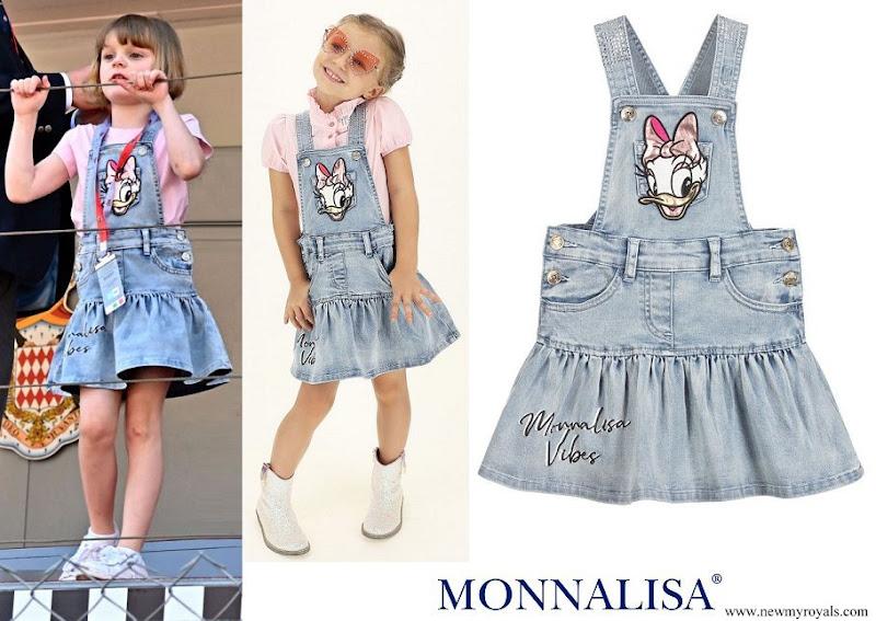 Princess Gabriella wore Monnalisa Blue Denim Daisy Duck Dress