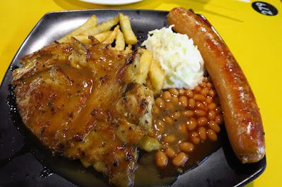 Wow Wow West, chicken chop sausage